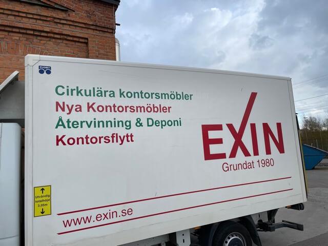 Kontorsflytt är en av många tjänster som Exin erbjuder.